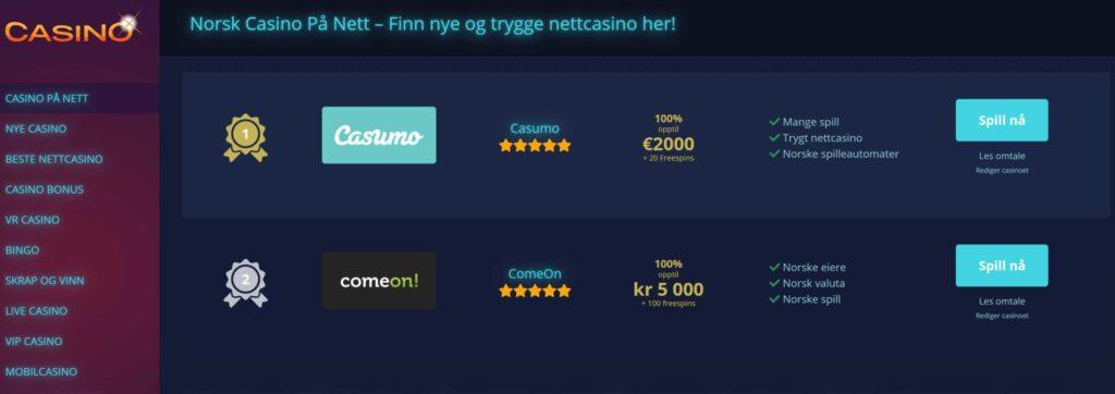 Casinoene.com screenshot